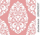 beautiful pink and white floral ... | Shutterstock .eps vector #1090250537