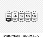 nutrition facts information... | Shutterstock .eps vector #1090251677
