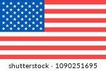 united states flag. usa flag.... | Shutterstock .eps vector #1090251695