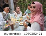 portrait of  young muslim woman ... | Shutterstock . vector #1090252421