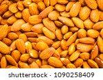 almonds nut textures and... | Shutterstock . vector #1090258409