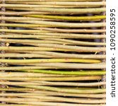 wall of willow twigs as... | Shutterstock . vector #1090258595