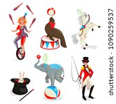 Set Of The Circus Characters