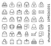 fashion bag various type such... | Shutterstock .eps vector #1090261031