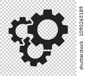 gear vector icon in flat style. ... | Shutterstock .eps vector #1090265189