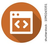 html code two colors glyph... | Shutterstock .eps vector #1090265351