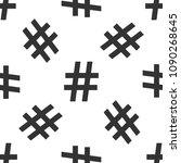 hashtag icon seamless pattern...