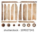 old wood planks isolated on... | Shutterstock . vector #109027241