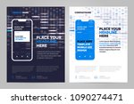 mobile apps flyer template.... | Shutterstock .eps vector #1090274471