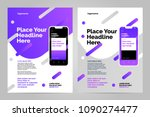 mobile apps flyer template.... | Shutterstock .eps vector #1090274477