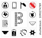 set of 13 simple editable icons ...   Shutterstock .eps vector #1090274789