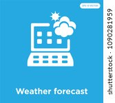 weather forecast vector icon... | Shutterstock .eps vector #1090281959