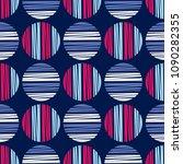 polka dot seamless pattern.... | Shutterstock .eps vector #1090282355