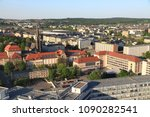 chemnitz city in germany  state ... | Shutterstock . vector #1090282541