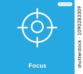 focus vector icon isolated on... | Shutterstock .eps vector #1090283309