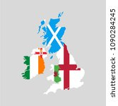 united kingdom countries and... | Shutterstock .eps vector #1090284245