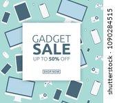 gadget sale template  ... | Shutterstock .eps vector #1090284515