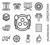 set of 13 simple editable icons ... | Shutterstock .eps vector #1090291544