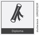 diploma icon isolated on white... | Shutterstock .eps vector #1090293239