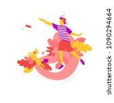 vector illustration of man...   Shutterstock .eps vector #1090294664