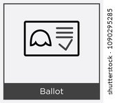 ballot icon isolated on white... | Shutterstock .eps vector #1090295285