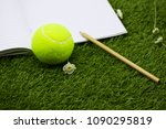 note for tennis player with... | Shutterstock . vector #1090295819