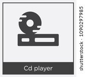 cd player icon isolated on... | Shutterstock .eps vector #1090297985