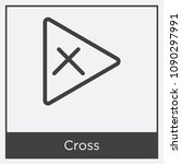 cross icon isolated on white... | Shutterstock .eps vector #1090297991