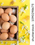 easter composition of eggs and... | Shutterstock . vector #1090298675