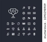 cup icon in set on the black... | Shutterstock .eps vector #1090298909