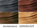 hair colors palette. hair... | Shutterstock . vector #1090301429