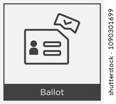 ballot icon isolated on white... | Shutterstock .eps vector #1090301699