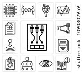 set of 13 simple editable icons ... | Shutterstock .eps vector #1090302959