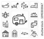 set of 13 simple editable icons ... | Shutterstock .eps vector #1090303067