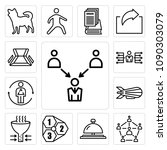 set of 13 simple editable icons ... | Shutterstock .eps vector #1090303079
