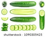 collection of fresh green...   Shutterstock . vector #1090305425
