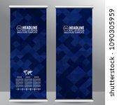 roll up business brochure flyer ...   Shutterstock .eps vector #1090305959