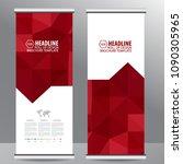 roll up business brochure flyer ...   Shutterstock .eps vector #1090305965