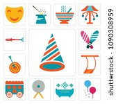 set of 13 simple editable icons ... | Shutterstock .eps vector #1090308959