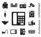 set of 13 simple editable icons ...   Shutterstock .eps vector #1090309685