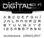 vector of futuristic alphabet... | Shutterstock .eps vector #1090312937