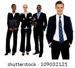 group of business people... | Shutterstock . vector #109032125