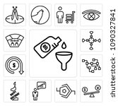 set of 13 simple editable icons ... | Shutterstock .eps vector #1090327841
