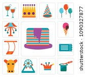 set of 13 simple editable icons ...   Shutterstock .eps vector #1090327877