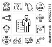 set of 13 simple editable icons ... | Shutterstock .eps vector #1090327895