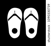 slippers icon. silhouette... | Shutterstock .eps vector #1090330739