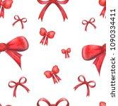 watercolor festive pattern of... | Shutterstock . vector #1090334411