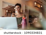 woman entrepreneur working on... | Shutterstock . vector #1090334831