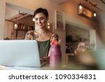 woman entrepreneur working on...   Shutterstock . vector #1090334831