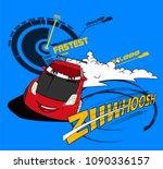caroon car illustration for... | Shutterstock .eps vector #1090336157